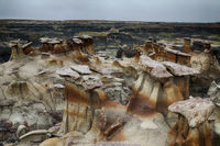 Bisti badlands,chocolate hoodoos,New Mexico, USA