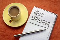 Hello September  handwriting