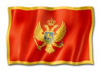 Montenegro flag isolated on white