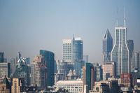 shanghai cityscape closeup