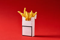 Cigarette pack with fries