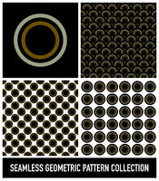 Seamless Colorful Abstract Modern Concentric Circles Pattern Collection