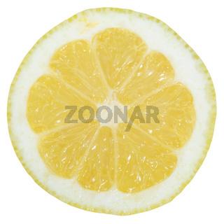 Zitrone Frucht geschnitten Hälfte Freisteller freigestellt isoliert
