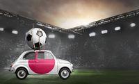 Japan car on football stadium