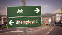 Street Sign to Job versus Unemployed
