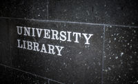 University Library Sign