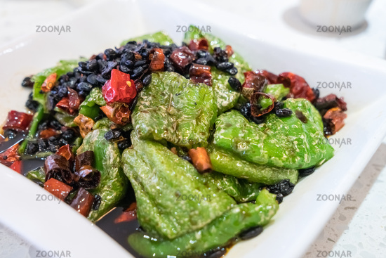 tiger skins green peppers