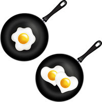 Fried Egg Collection Isolated White Background