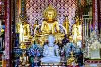 buddha statue in temple in thailand, digital photo picture as a background