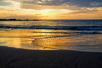 Sun Setting on the Atlantic Ocean in Tenerife Canary Island