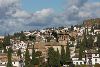 Ancient arabic fortress of Alhambra, Granada, Spain