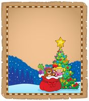 Christmas tree and gift bag parchment 1