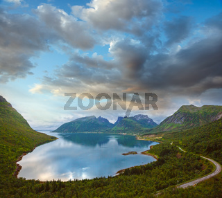Summer Ersfjord view, Norway, Senja