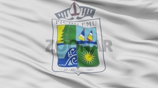 Pichilemu City Flag, Chile, Closeup View