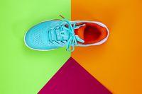 Tennis shoe in studio