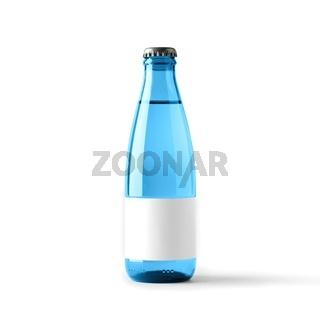 Colored blank bottle, mockup for beverages