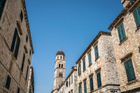 Tall Dominican church bell tower