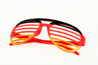 Fan glasses with the colours of the german flag