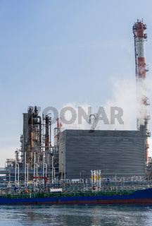 Tanker boat Chemical factory