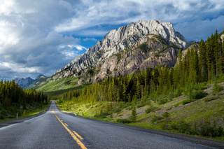 Highway 40 in Highwood Pass area of Kananaskis Country, Alberta