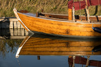 Bodden auf Fischland mit Zeesboot