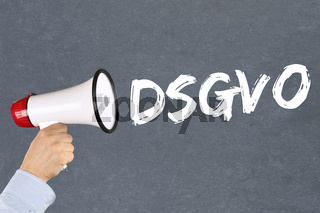 DSGVO Datenschutz Grundverordnung Verordnung Regel EU Europäische Union Internet Megafon