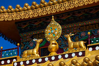 Buddhist Wheel of the Law on monastery, India