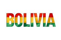bolivian flag text font