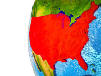 United States on 3D Earth