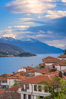 View of Ohrid town and Lake