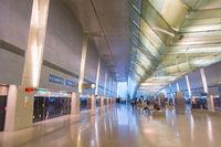 Metro train station airport. Singapore