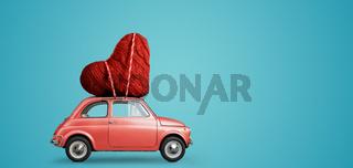 Toy car delivering heart