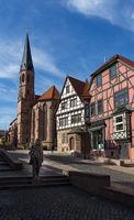 City view of the geman city Heilbad Heiligenstadt