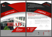 Red and Black Abstract Flyer Template