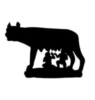 The Symbol Of Rome. Antiquity. Capitoline Wolf . vetcor illustration
