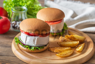 Camembert Hamburgers