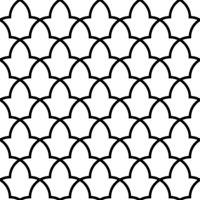 Seamless arabic geometric ornament in black and white.Moroccan pattern.