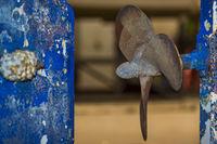 Propeller einer Segelyacht