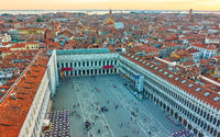 The Saint Mark's square and Venice from above