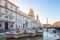 Piazza Navona square landmark in Rome city, Italy