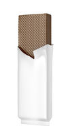 Chocolate wafer in white foil