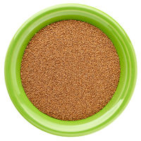 brown teff grain in isolated bowl