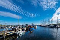 Blick auf den Hafen von Rerik am Salzhaff