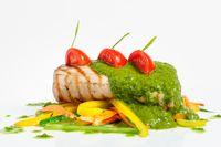roasted pork tenderloin with vegetable saute