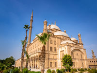 The Mosque of Muhammad Ali in Cairo Egypt at daytime
