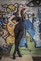 Fashionshooting vor Graffiti