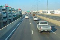Traffic on Bangkok highway