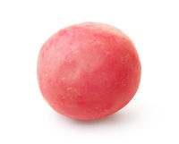 Single pink chewing gum ball