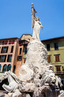 In the center of Lovere on Lake Iseo Lombardy Italy