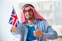 Arab student studying english language
